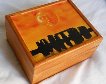 Pagan/Stonehenge/Splendor Solis/Druid/Wooden box