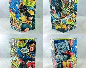 Comic Book Wooden Pen Holder Handmade Custom Superhero Gift Marvel DC Disney Thundercats