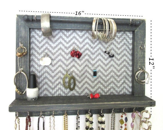 jewelry wall mounted organizer earring by thepinetreeshop