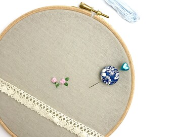 Needle minder, holder, sewing accessory, embroidery tool, pin holder, cross stitch, needle work