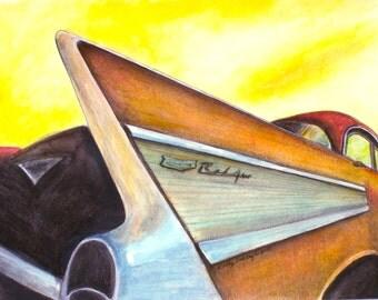 """Watercolor Mixed media Original Art, 9""""x12"""""""