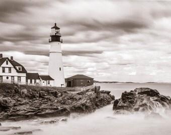 Portland Head Light in Black & White