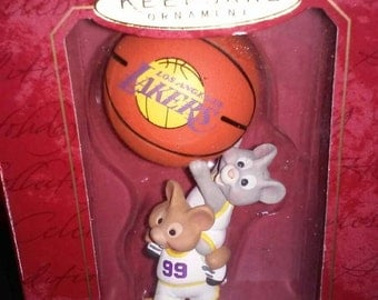 Hallmark Keepsake NBA Collection Los Angeles Lakers Ornament Christmas Collectible basketball