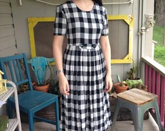 Black & White Gingham Dress (small/medium)