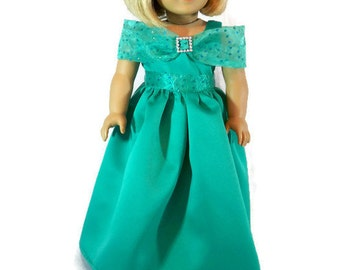 American Girl Evening Gown, - AG Formal Dress - 18 inch doll dress - fits the American Girl and similar 18 inch dolls.