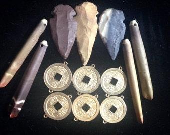 Arrow Heads, Daggers, Coin Connectors