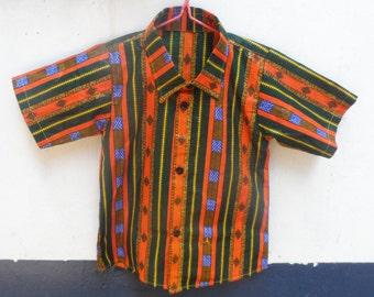 SUMMER PRICE* African Wax 'Birthday Behaviour' Shirt