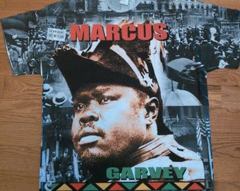 African American T- Shirts,Marcus Garvey .All Over Print