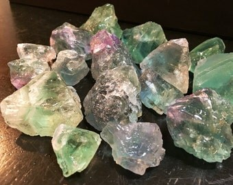 Raw Fluorite Crystal - rainbow fluorite crystal - green fluorite - healing crystal - Rainbow Fluorite - fluorite - raw fluorite stone