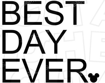 best day ever disney etsy. Black Bedroom Furniture Sets. Home Design Ideas