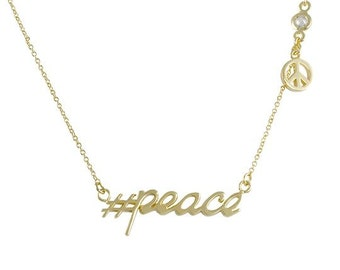 Hashtag Collection - #Peace Necklace N9211G