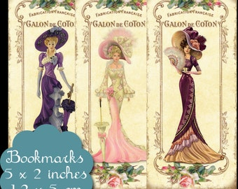 8 Vintage Elegance Bookmarks Set 2