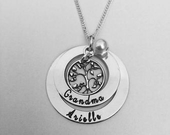 mothers day gift, Personalised family tree necklace, personalized gift for her, family name necklace, mothers day gift, Mothers Necklace