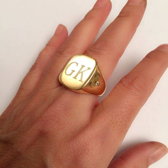 signet ring Square signet rings Pinky ring mens signet