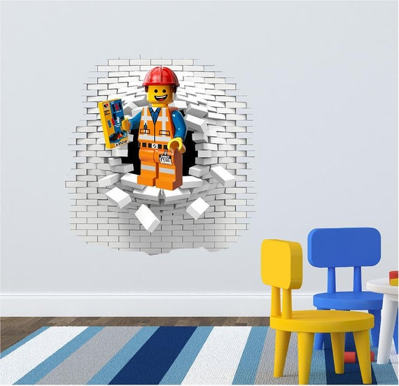 lego wall decal sticker looks great in the kids room by personalized name ninjago lego vinyl wall decal sticker