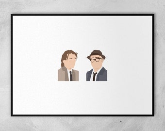 Bottom | Rik Mayall | Adrian Edmondson | Block Art  | Minimal Artwork Poster