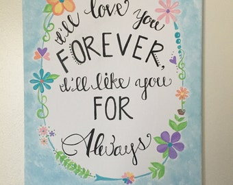 I'll Love You Forever Canvas
