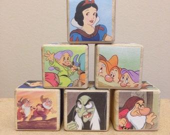 Snow White storybook blocks - In Stock
