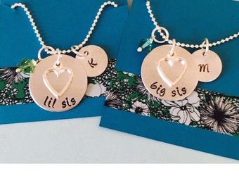Sister Necklaces, Necklace Set, Big Sister, Little Sister Necklace, Big Little Sorority Sisters