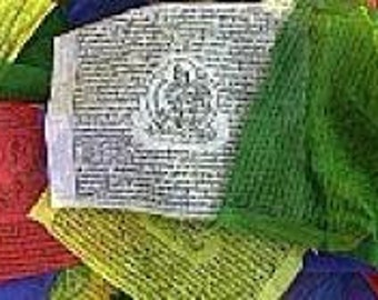 Tibetan prayer flags Buddhists lungta tibetan flags 25-12 x 18 cm 5.2 m meditation ritual Buddhist ref dramm