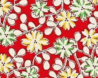Windham Fabrics - Floursack Red Floral Reproduction Print