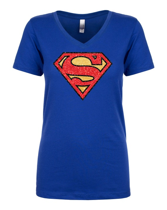 superman t shirt ladies v neck t shirt women ideal t shirt sparkly. Black Bedroom Furniture Sets. Home Design Ideas