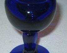 25% SALE Old Cobalt Blue Glass Eye Wash Cup John Bull 1917