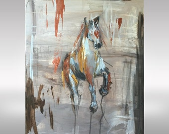Redemption- Horse Art, Abstract Horse Equine Art