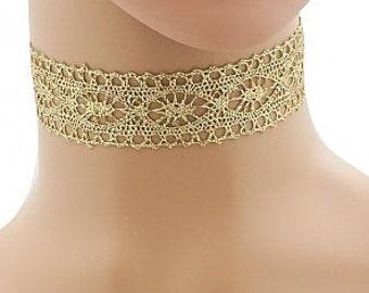Gold Lace Choker