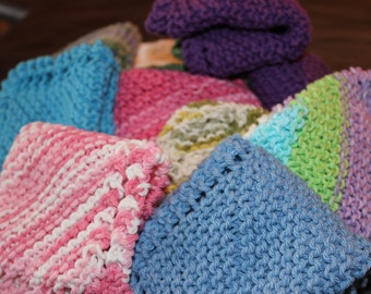 Dishcloths - Kitchen - Hand Knit Dishcloths - Dishcloths Set of 5 - Knit Dishcloths - Kitchen Accessories