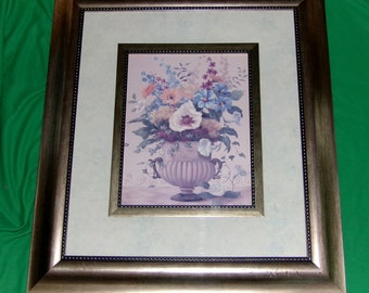 Seasonal Bouquet II Floral Print by Vivian Flasch Very Large 28 x 24 exquisitely framed