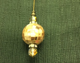 """Hat Pin; Ladies Fashionable Hat Jewelry; Bejeweled Victorian/Edwardian Style 8"""" Hat Pin/Accessory"""