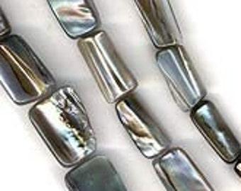 Solid shell irregular rectangles, pkg of 10. b15-she282(e)