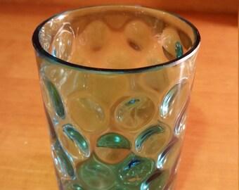 Aqua Blue Inverted Thumbprint Tumbler