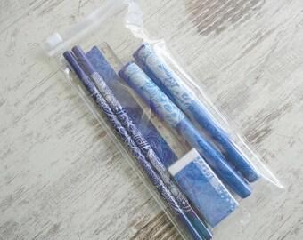 "Pen set ""Paisley blue"""