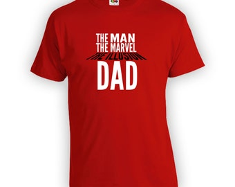 The Man The Marvel The Illusion T-Shirt - Dad Shirt, Step Dad, Step Father,Dads Birthday Shirt,Funny Shirts, Etsy,Proud New Dad To Be CT-290