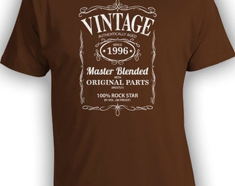 Vintage Whiskey Label Birthday Shirt Born 1996 - Celebrating 20th Birthday, Gifts for Him, Gifts for Friends, Gifts for Boyfriend CT-1085
