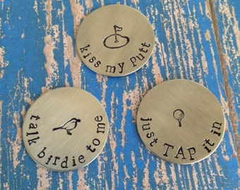 Set of 3 Personalized Magnetic Golf Ball Markers
