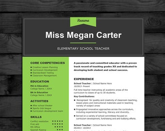 resume cv template mac pc 3 page teacher cv free cover letter instant download word pages
