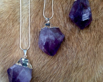 Large Amethyst Point Necklaces