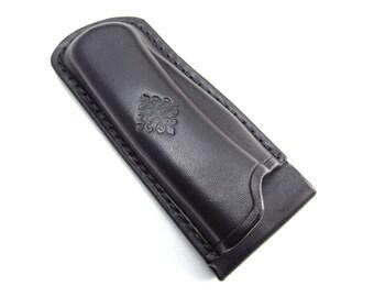 Custom Leather Sheath for Buck 110 Folding Hunter Knife, Handmade