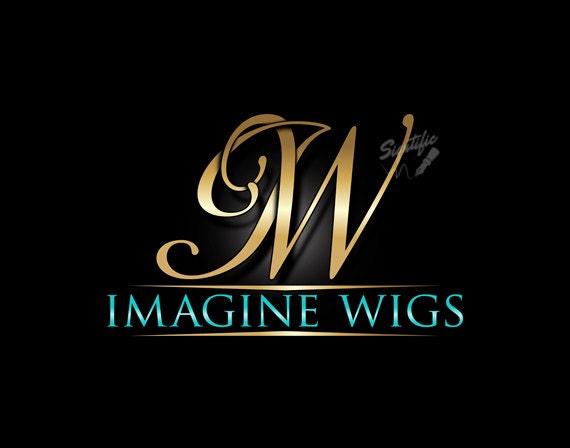 monogram initials logo elegant gold initials logo custom