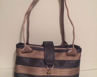 Seatbelt Purse, Large handbag, seat belt bag, large woven