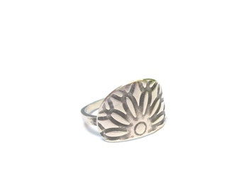 "Ethnic ring silver serious Massif ""Maya 2"""