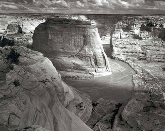 Ansel Adams Print of Canyon de Chelly in Arizona,National Monument Old Vintage Photograph Reproduction  Photo is B&W date 1942