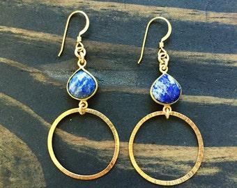 Gold hoop earrings, gold, hoop earings, gift for her