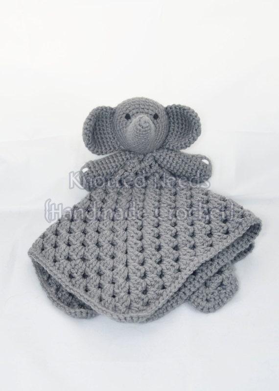 Crochet Elephant Lovey - photo#29