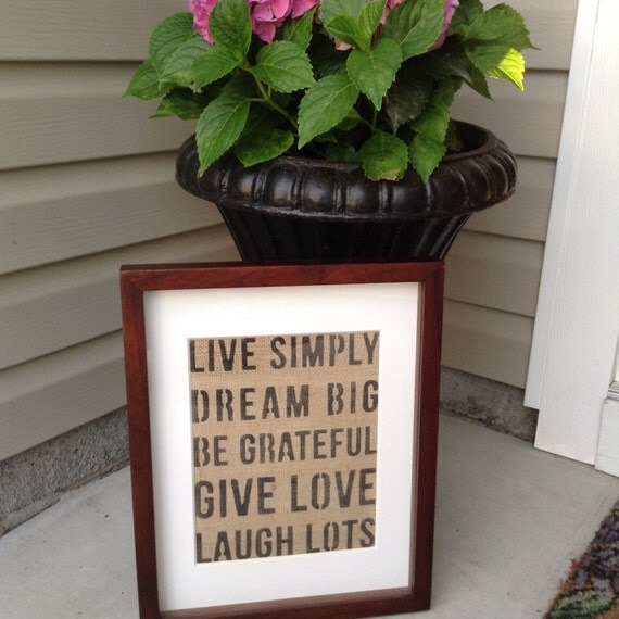 Live simply wall decor by burlapave on etsy for Live simply wall art