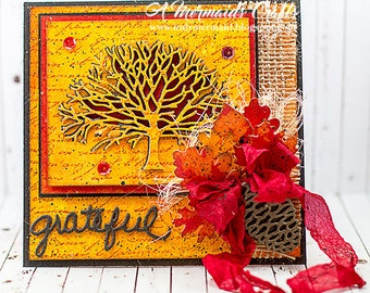 Handmade Grateful Fall Thanksgiving Card