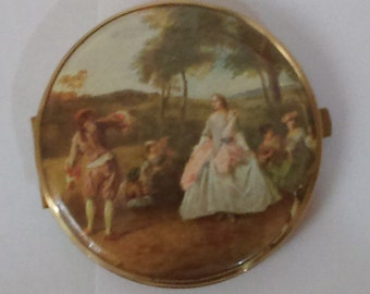 Vintage 1960's Made in Western Germany Romantic Lets Dance Scene Compact